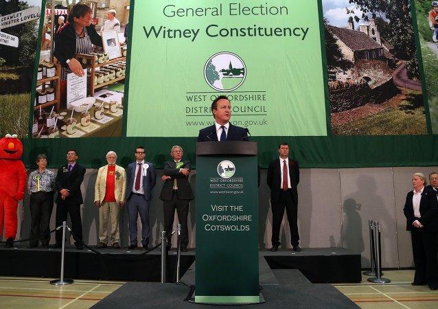 David Cameron, leader du parti conservateur britannique, Mai 8, 2015