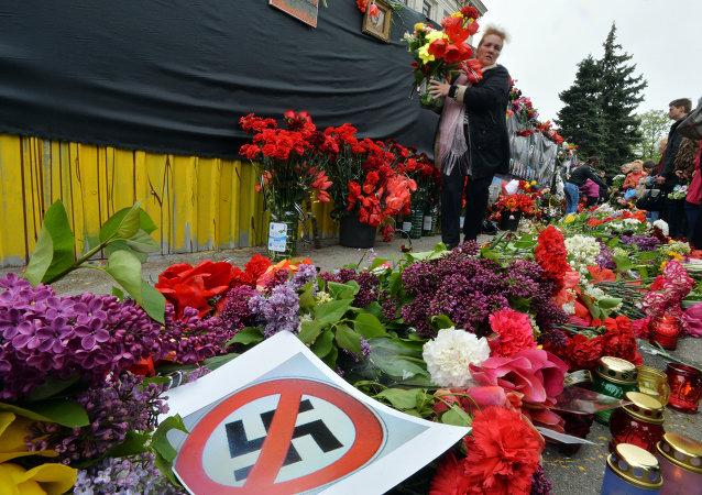 La commemoration des victimes d'Odessa