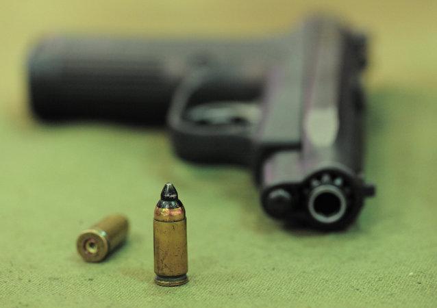 Une arme à feu. Image d'illustration