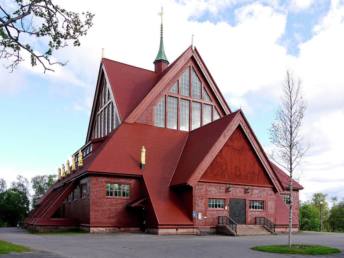 Eglise de bois. Kiruna