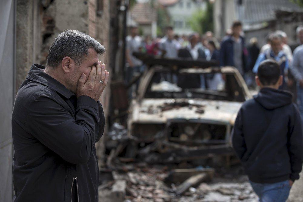 Une voiture incendiée à Kumanovo