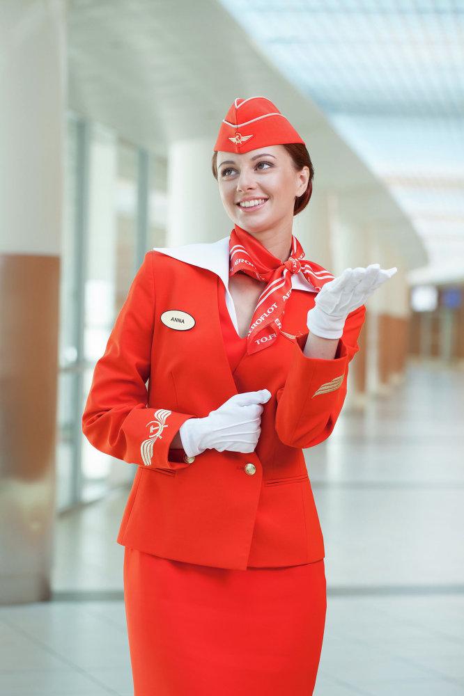 Une hôtesse de l'air d'Aeroflot