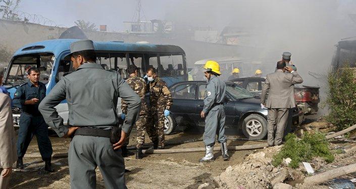 Lieu de l'attentat à Kaboul