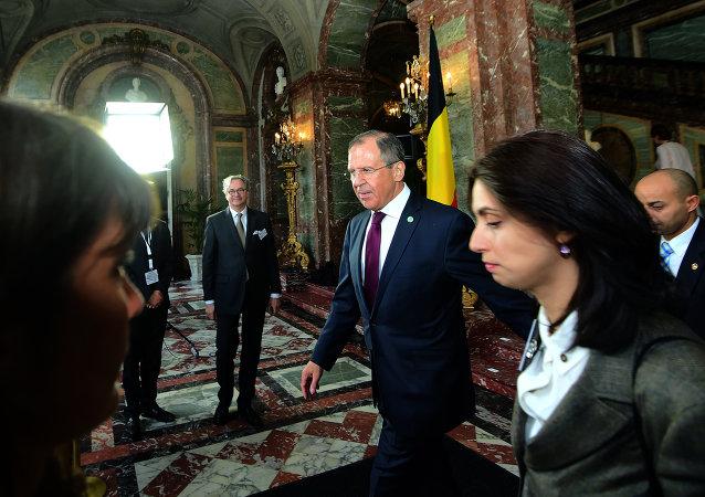 Sergueï Lavrov a participé à Bruxelles à la réunion du Comité des ministres du Conseil de l'Europe, Mai 19, 2015.