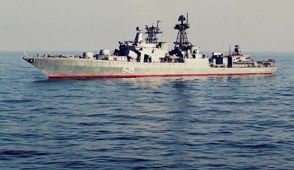 Le grand bâtiment anti-sous-marin Marchal Chapochnikov