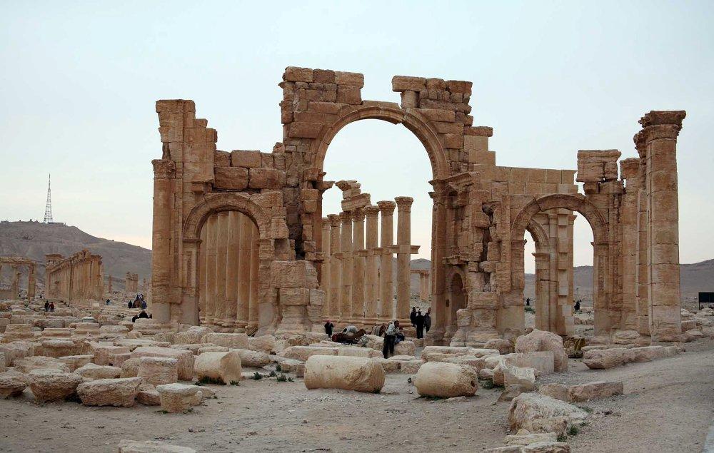 Les ruines de l'ancienne ville syrienne de Palmyre