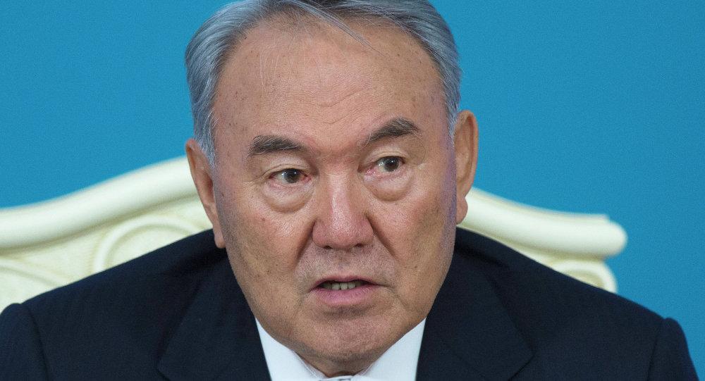 Le Président du Kazakhstan Noursoultan Nazarbaïev