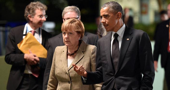 La chancelière allemande Angela Merkel et le président américain Barack Obama (Archives)