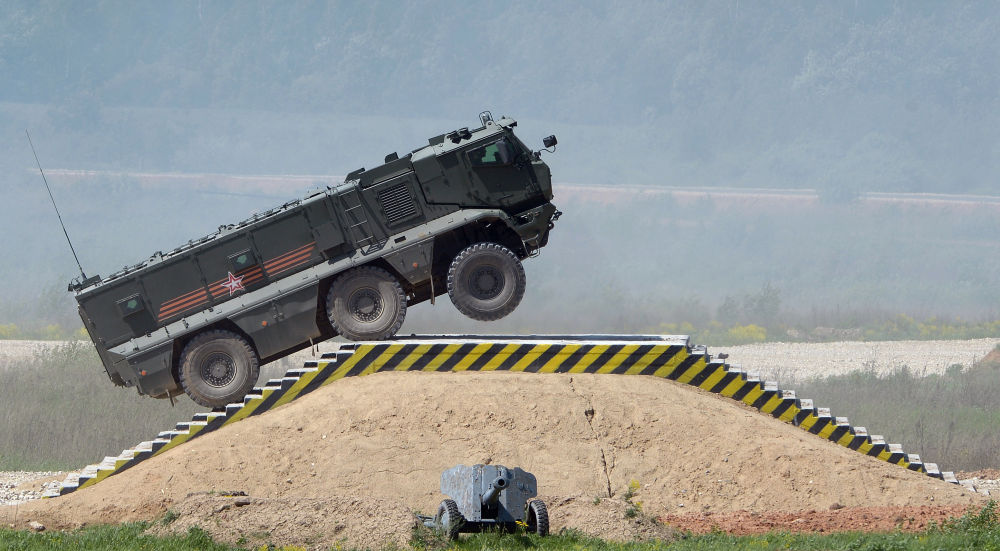Un véhicule blindé Taïfoun-K