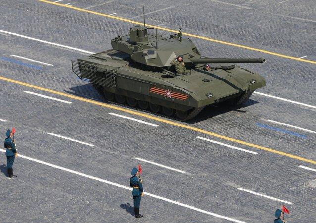 Un T-14 Armata lors du défilé sur la place Rouge
