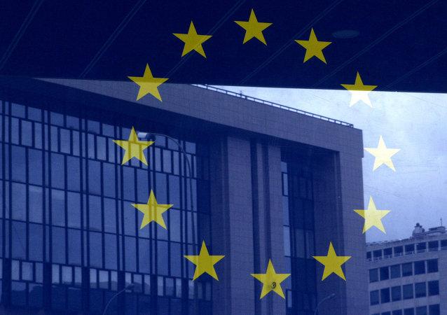 Drapeau de l'UE à Bruxelles