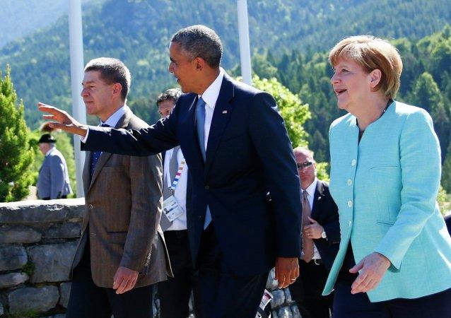 Angela Merkel et Barack Obama, Juin 7, 2015.