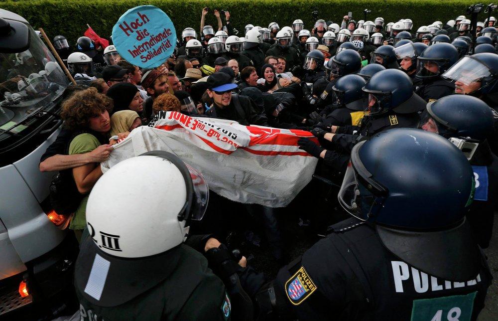 Manifestations anti-G7 en Allemagne