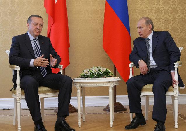 Vladimir Poutine et Recep Tayyip Erdoğan. Archives