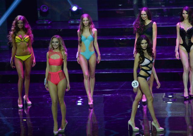 Les participantes du concours Miss Moscou-2015