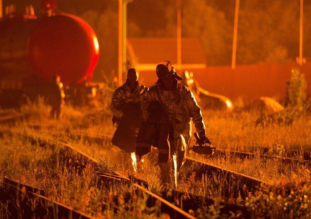 Incendie d'un dépôt pétrolier en Ukraine