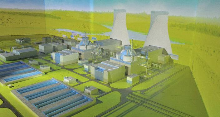 Maquette dela centrale nucléaire d'Akkuyu