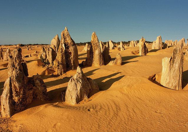 Le désert des Pinnacles du parc national de Nambung (Australie)