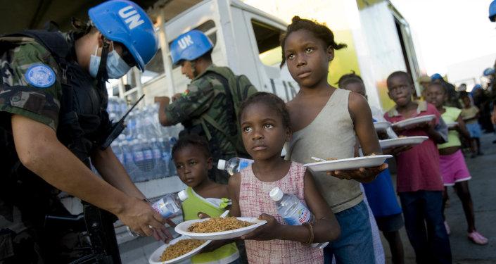 Les Casques bleus de l'Onu en Haïti