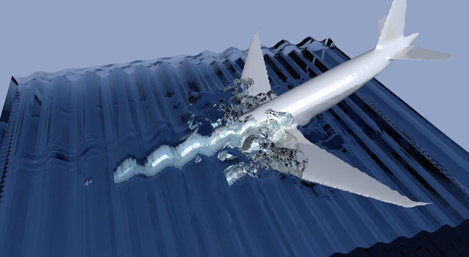 Boeing MH370: chute de l'avion dans l'eau