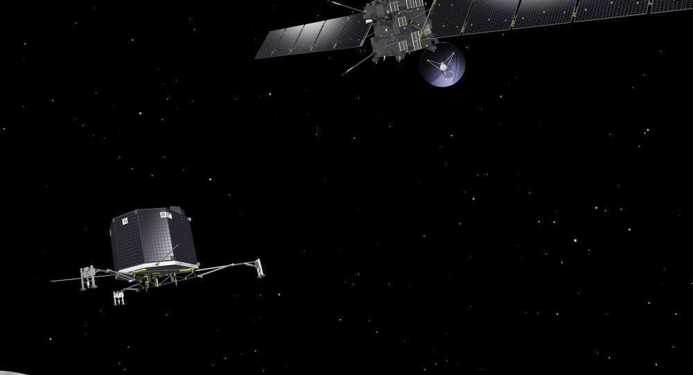 La sonde Rosetta larguant le module Philae
