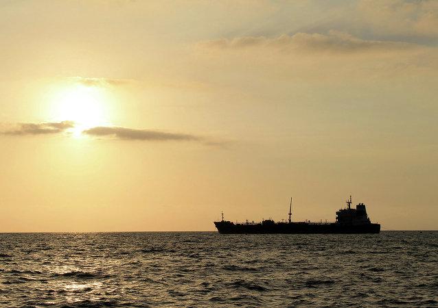 Un tanker pétrolier