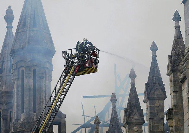 Incendie à Nantes