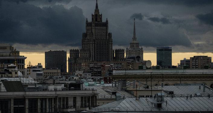 Le bâtiment du ministère russe des Affaires étrangères