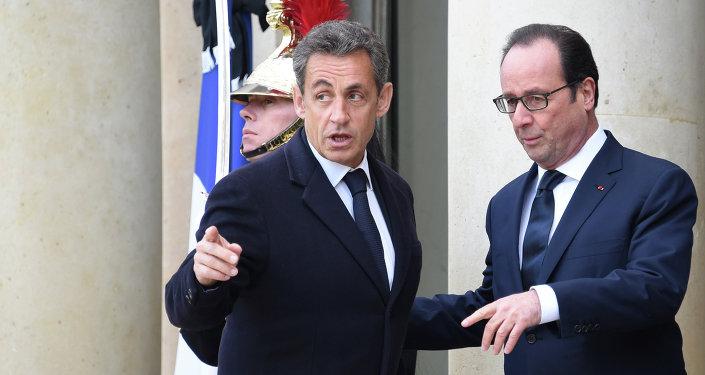 Francois Hollande et Nicolas Sarkozy