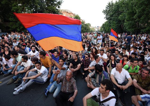 Protestations à Erevan, Juin 22, 2015