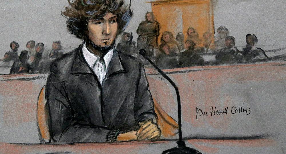 Djokhar Tsarnaïev au tribunal
