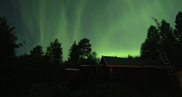 Aurore boréale en Suède
