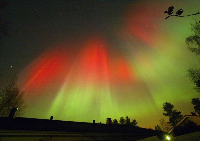 Aurore boréale en Finlande (image d'archives)
