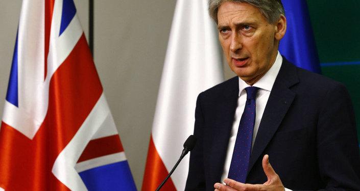 Le ministre britannique des Affaires étrangères Philip Hammond