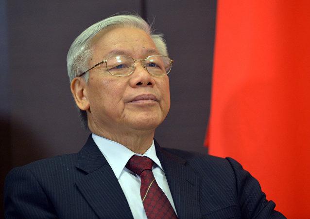 le secrétaire général du Parti communiste vietnamien, Nguyen Phu Trong