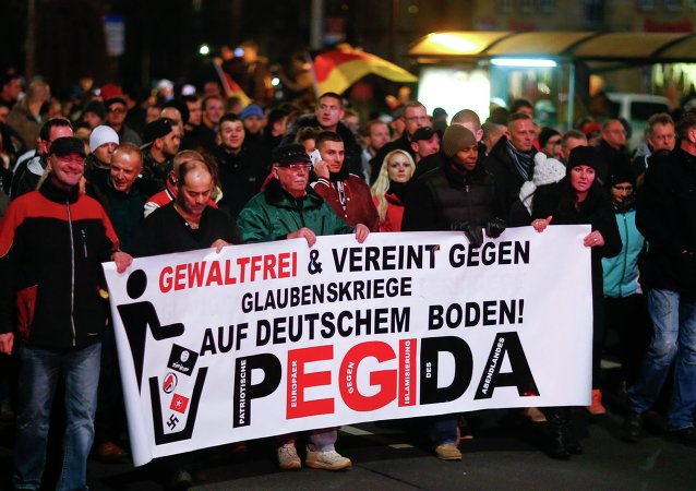 Une manifestation organisée par le mouvement Pegida