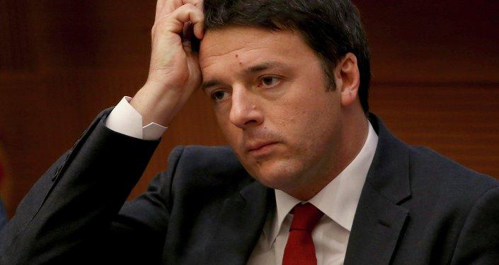 Le premier ministre italien Matteo Renzi