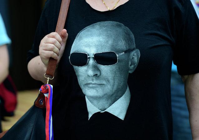 T-shirt avec le portrait de Vladimir Poutine