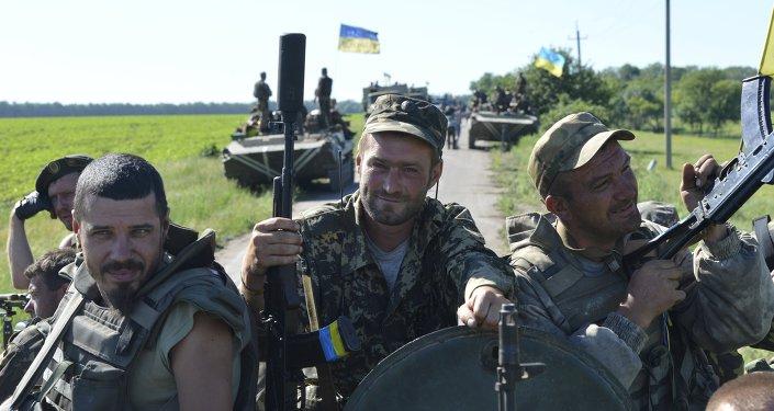 Des militaires ukrainiens