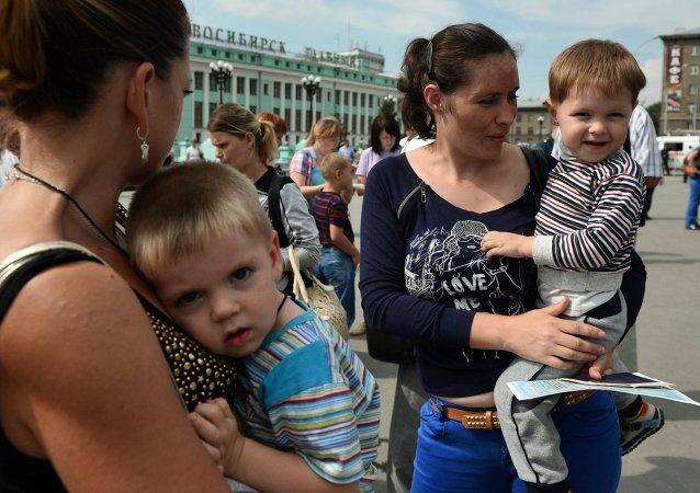 Réfugiés ukrainiens à Novossibirsk