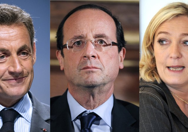 Nicolas Sarkozy, François Hollande, Marine Le Pen
