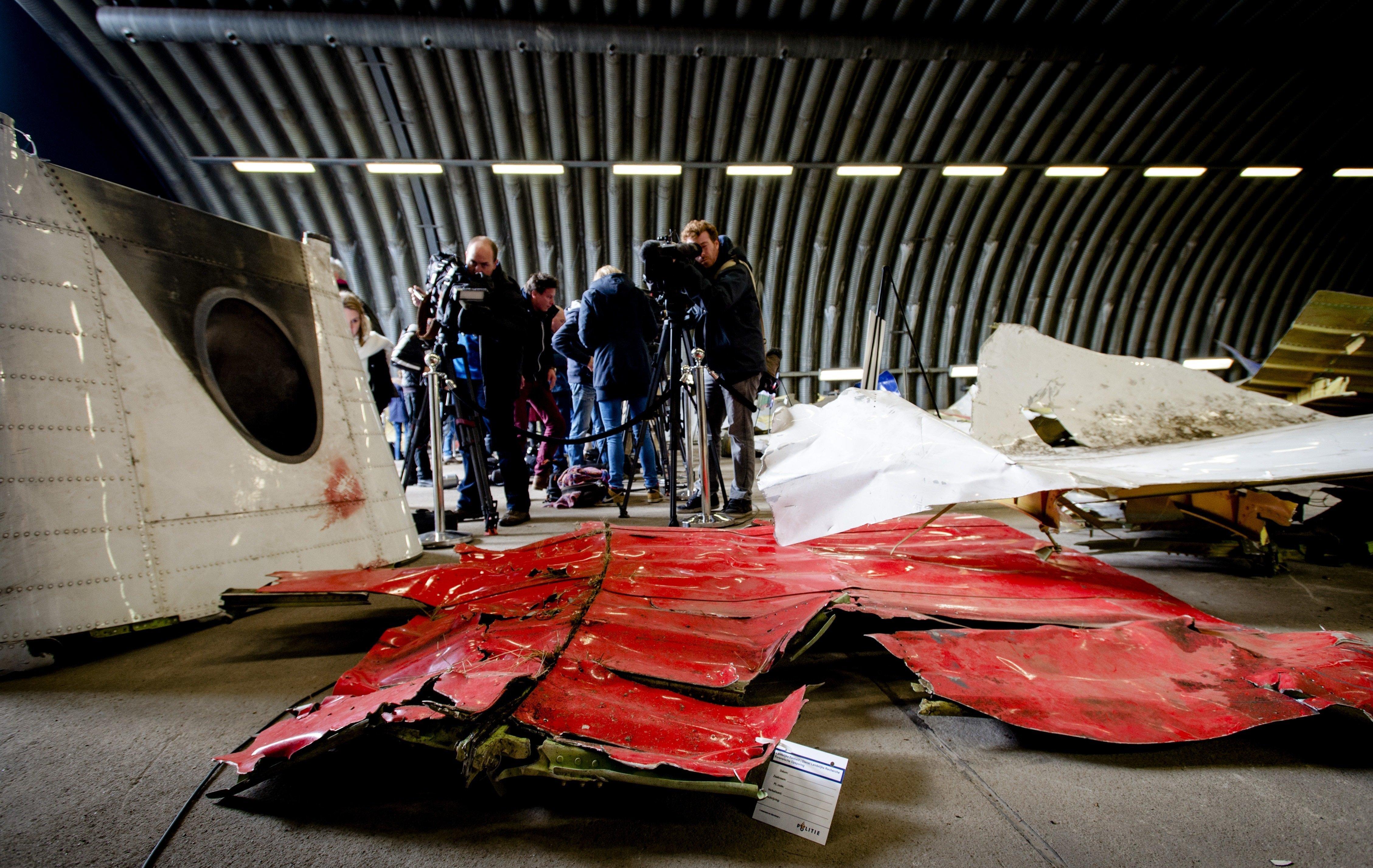 Fragments du Boeing malaisien abattu en Ukraine