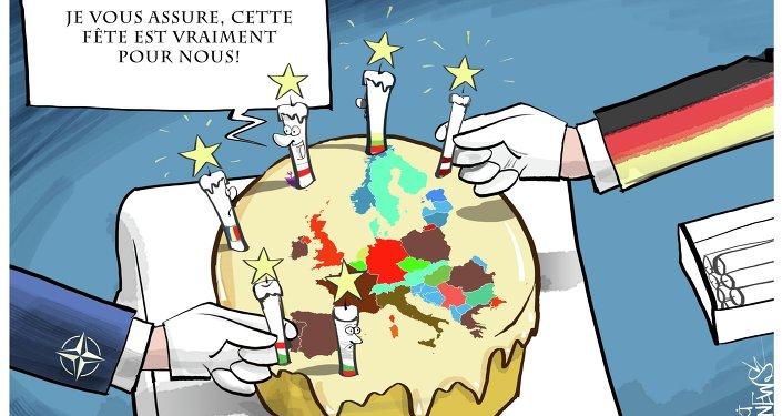 L'Otan et l'Allemagne se partagent le gâteau européen