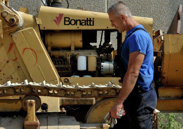 Un technicien de la société Bonatti. Image d'illustration