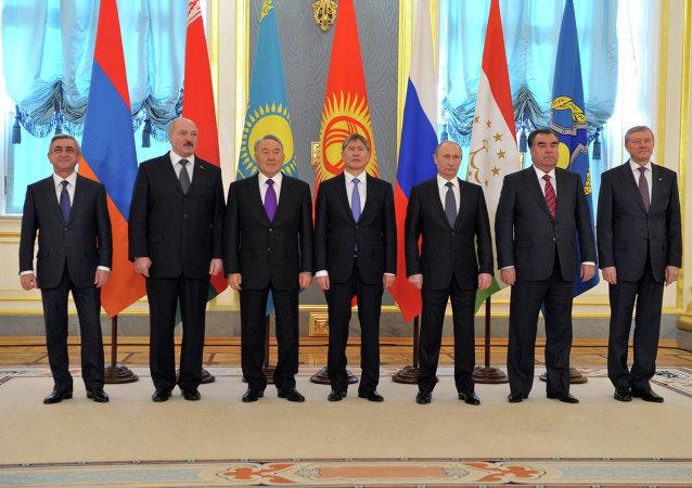 Les chefs d'Etat des pays membres de l'Organisation du Traité de sécurité collective