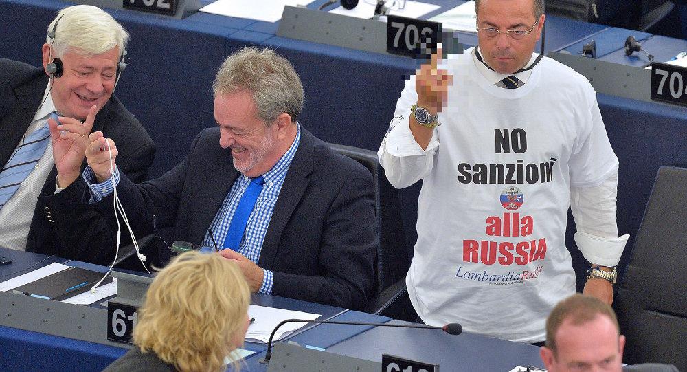 Gianluca Buonanno, parlementaire italien à Strasbourg