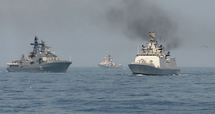 Exercice naval russo-indien Indra. Archive photo