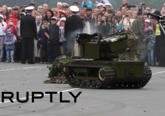 Un robot de combat russe dévoilé au grand public
