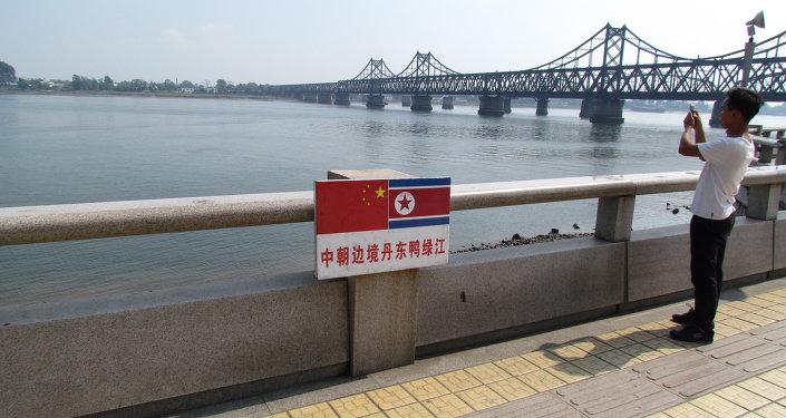 Le fleuve Yalujiang, frontière RPC/RPDC