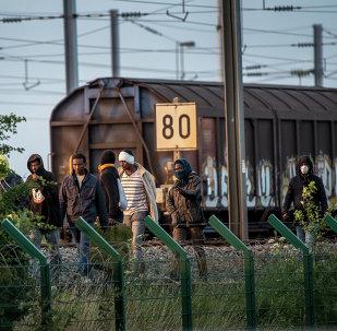 Un campement de migrants à Paris